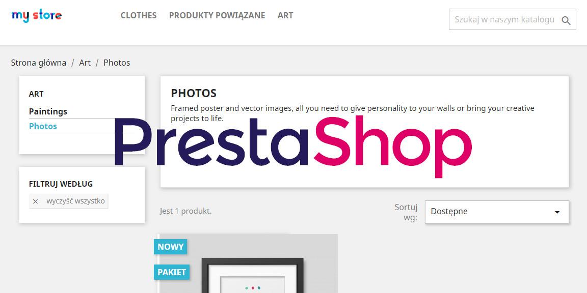 Podświetlanie aktywnej kategorii w Prestashop 1.7