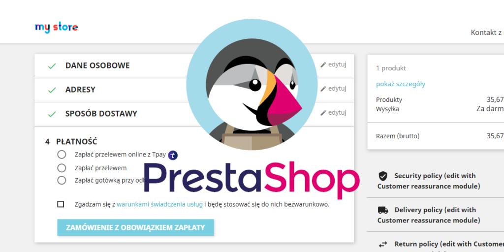 Zmiana kolejności metod płatności Prestashop 1.7