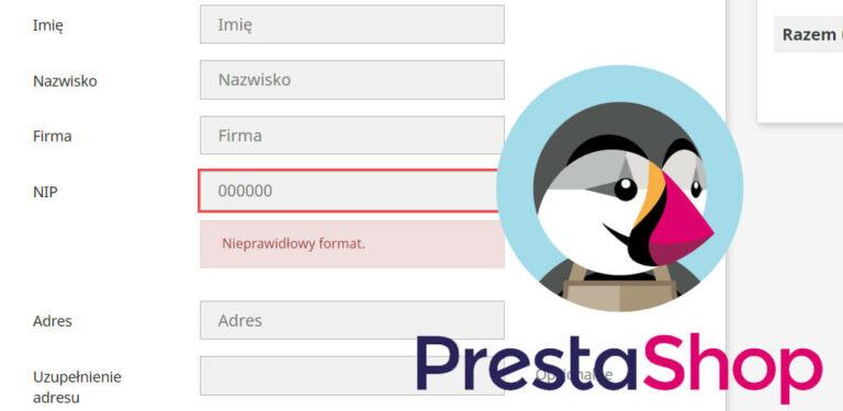 Walidacja pola NIP – polski numer NIP w Prestashop 1.7
